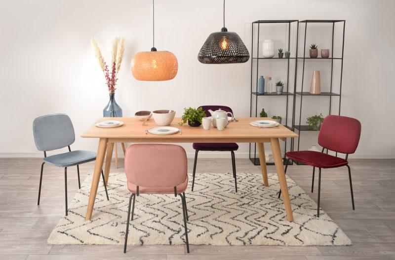 table repas rectangulaire en chêne de style scandinave pour 6 personnes