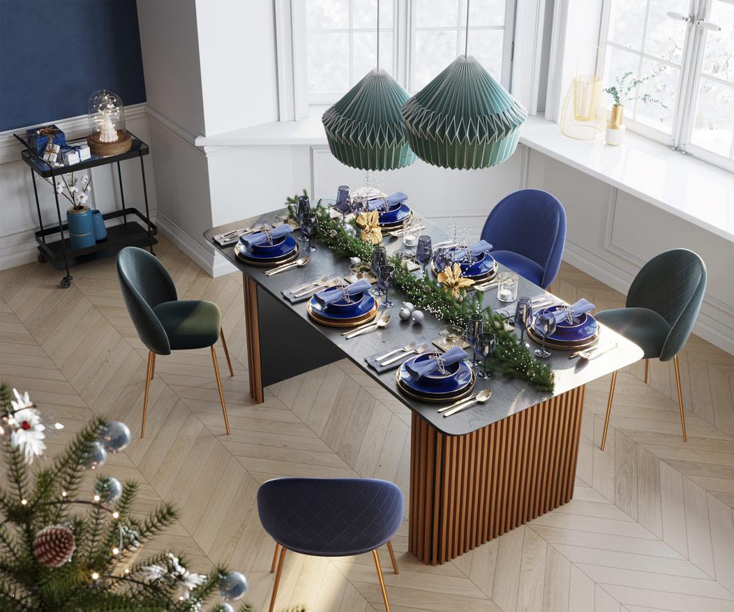table repas rectangulaire en chêne vintage pour 6 personnes