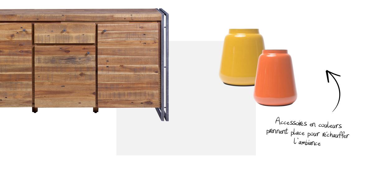 Un mobilier en bois recyclé de style gypset
