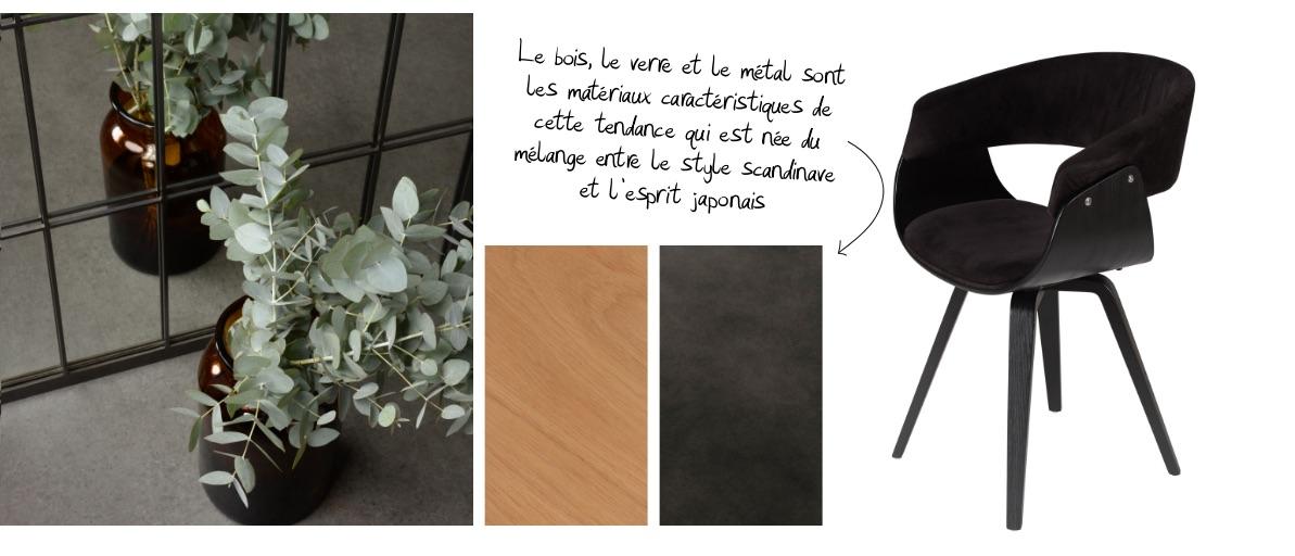 Les couleurs phares du style déco Japandi dans les meubles et la déco